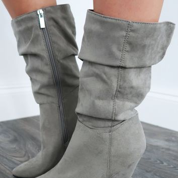 Walk All Over You Boots: Grey