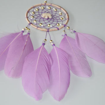 Car Accessories for Women, Car Dream catcher, Rear View Mirror Charm, Elephant Stone, Lavender Feathers Dreamcatcher