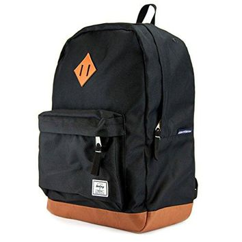 Leather Bottom Laptop Backpack Benteng Premium for School Travel Daypack