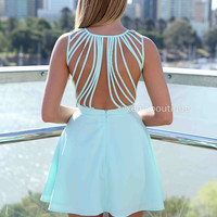 IN THE MOMENT DRESS , DRESSES, TOPS, BOTTOMS, JACKETS & JUMPERS, ACCESSORIES, SALE, PRE ORDER, NEW ARRIVALS, PLAYSUIT, COLOUR, GIFT CERTIFICATE,,Blue,CUT OUT Australia, Queensland, Brisbane