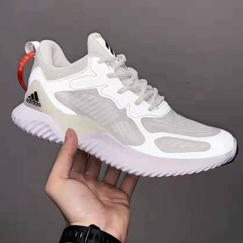 Adidas AlphabounceHPC AMS 3M Reflective Popular Women Men Personality Sport Running Shoes Sneakers