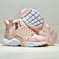 NIKE AIR Huarache Run Ultra Women Fashion New High Quality Sports Leisure Keep Warm Retro Shoes Pink