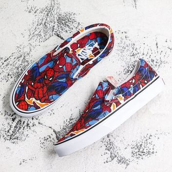 Marvel x Vans Slip-on Spider Man Sneakers - Best Deal Online
