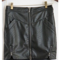 Leather Zipper Skirt
