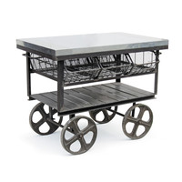 Factory Industrial Station Cart Galvanized Steel