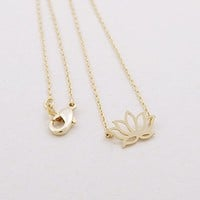 Flower Lotus Necklace for Women Teen Girls Best Birthday Gifts