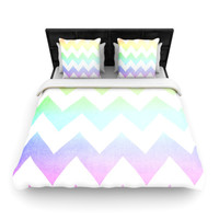 "Catherine McDonald ""Water Color"" Chevron Lightweight Duvet Cover"