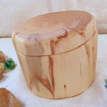 Cypress Tree Branch Wood Box eco wedding by earnestefforts on Etsy