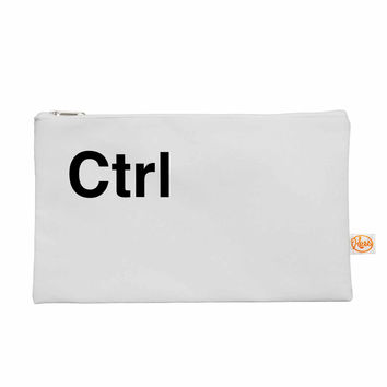 "Jackie Rose ""Ctrl"" Black White Everything Bag"