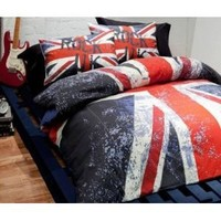 Amazon.com: Union Jack Rock UK Reversible Double Duvet Set: Sports & Outdoors