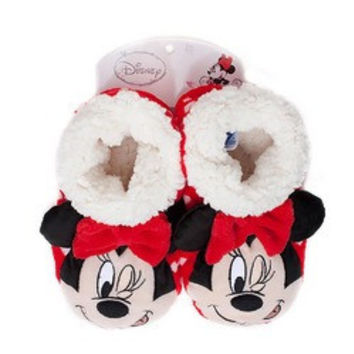Minnie Mouse Kids Slippers - Red [Small/Medium]