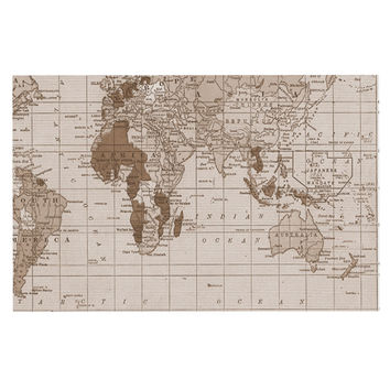 "Catherine Holcombe ""Emerald World"" Vintage Map Decorative Door Mat"