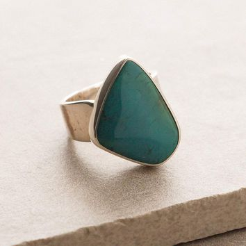 Gem Silica Chrysocolla Ring - One Of A Kind - 8.4cts