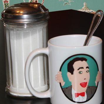 Pee Wee Herman Mug - Illustrated in the USA