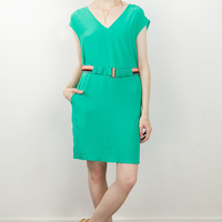 Calley V-Neck Shift Dress
