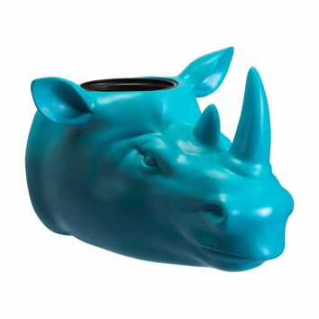 Rhino Planter Blue