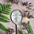 Real Australians say welcome - hand stamped and flattened vintage silver spoon gift decoration