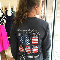Simply Southern USA Long Sleeve Tee