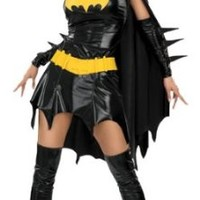 DC Comics Secret Wishes Sexy Deluxe Batgirl Adult Costume,Bat Girl Black,Medium