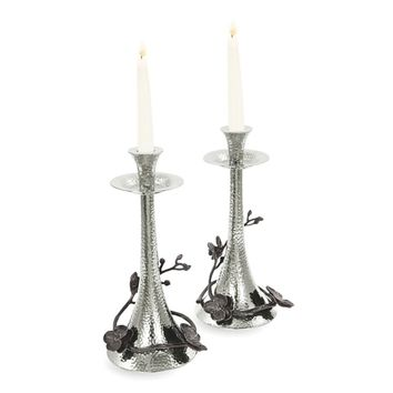 Michael Aram Black Orchid Taper Candleholders, Set of 2 | Bloomingdales's