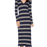 Saint Grace Voyage Long Sleeve Dress in Navy