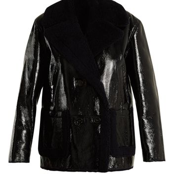 Double-breasted shearling coat | Yves Salomon | MATCHESFASHION.COM US