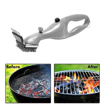 Hot Barbecue Stainless Steel BBQ Cleaning Brush Churrasco Outdoor Grill Cleaner with Power of Steam bbq accessories Cooking Tool