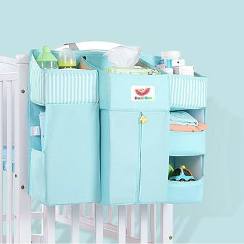 Baby Bed Crib Bedding Set Newborn Cot Sets Hanging Storage Bag Diaper Bag Baby Bed Storage Pockets Child Kid Organizer Toy