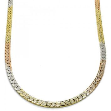 Gold Layered 04.65.0189.20 Fancy Necklace, Polished Finish, Tri Tone