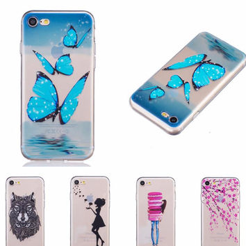 For iPhone 7 Case Ultra Thin Soft TPU Silicone Transparent Shockproof Protective Cover for iphone 7 Cell Phone Shell (2017 Hot)