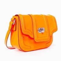 Eve Patent Satchel - Neon Orange in Accessories at Nasty Gal