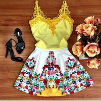 Fashion Lace Vest Harness Dress EYP17AM