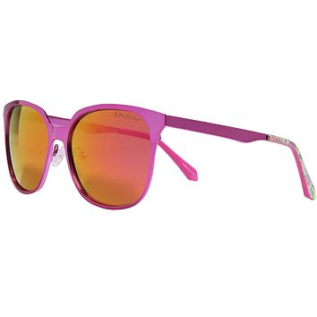 Landon Sunglasses in Metallic Pink With Pink Lenses by Lilly Pulitzer
