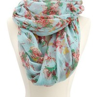Lurex Stripe Floral Infinity Scarf: Charlotte Russe