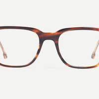 The Men's Millbrook Glasses in Light Stripe Tortoise from designer, Steven Alan