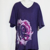 Just My Size Plus Size 5X Tee Shirt Purple New