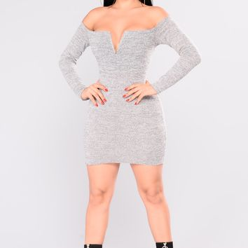 Copenhagen Sweater Dress - White/Black