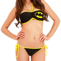 Bat Girl Bandeau Bikini and String Bottom
