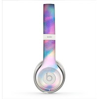 The Tie Dyed Bright Texture Skin for the Beats by Dre Solo 2 Headphones