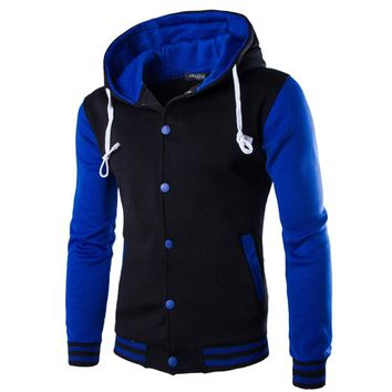 Hoodie Button Cardigan Hoodies Men Fashion Tracksuit Male Sweatshirt Hoody Men's