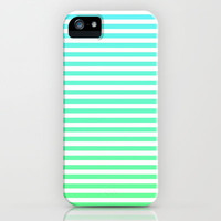Beach Blanket - Aqua/Green iPhone Case by Lyle Hatch | Society6
