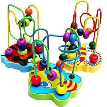 Colorful Wooden Mini Animal Track Maze Beads Around Beads Wooden Toy Maze Classic Baby Developmental Toy Birthday Gift VB782 P40