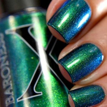 Tesseract - Teal Multichrome with Holo Flakies