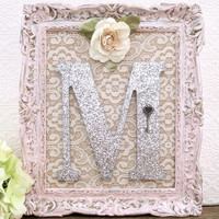 Personalized Wooden Nursery Letters Baby Girl Nursery Decor Shabby Chic Nursery Hanging Wall Letters