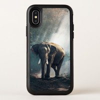 Asian Elephant in a Sunlit Forest Clearing OtterBox Symmetry iPhone X Case