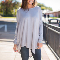 Born To Fly Top, Gray