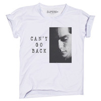 Can't Go Back Stiles (Dylan O'Brien) T-Shirt, White Cotton Blend, Unisex SIZE S M L XL