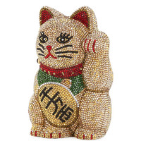 Judith Leiber Couture Maneki Neko Beckoning Cat Clutch Bag