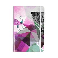"Pia Schneider ""FLAMINGO P22"" Pink Geometric Everything Notebook"