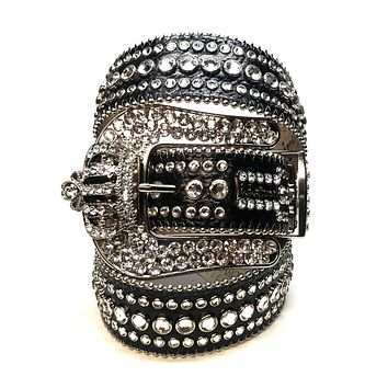 "B.B Simon ""Classic Crown"" Fully Loaded Swarovski Crystal Belt"